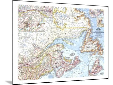 1967 Eastern Canada Map-National Geographic Maps-Mounted Art Print