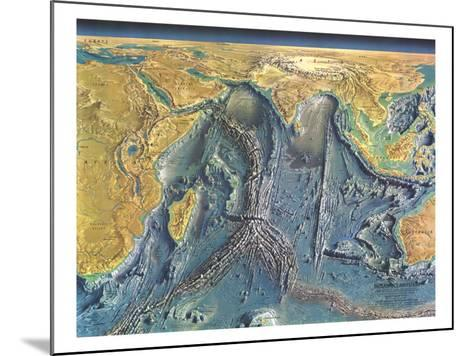 1967 Indian Ocean Floor Map-National Geographic Maps-Mounted Art Print