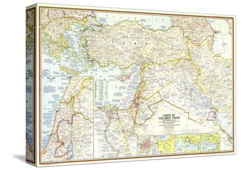 1967 Lands of the Bible Today Map-National Geographic Maps-Stretched Canvas Print