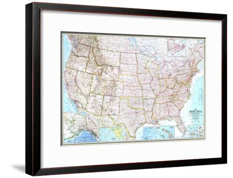 1968 United States Map-National Geographic Maps-Framed Art Print