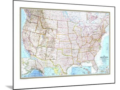 1968 United States Map-National Geographic Maps-Mounted Art Print