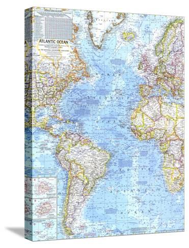 1968 Atlantic Ocean Map-National Geographic Maps-Stretched Canvas Print