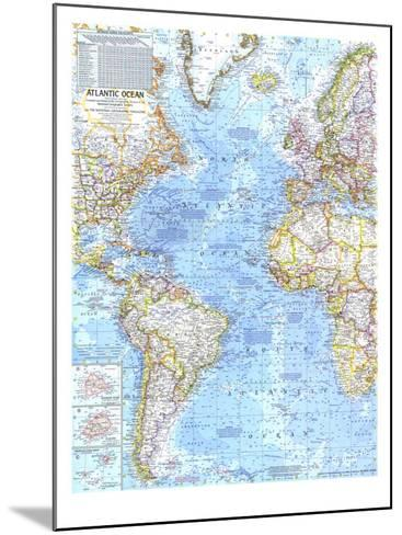 1968 Atlantic Ocean Map-National Geographic Maps-Mounted Art Print