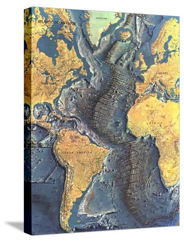 1968 Atlantic Ocean Floor Map-National Geographic Maps-Stretched Canvas Print