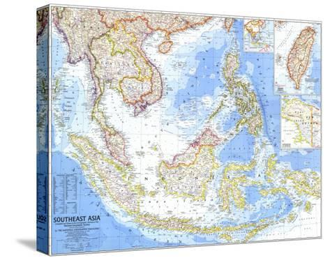 1968 Southeast Asia Map-National Geographic Maps-Stretched Canvas Print