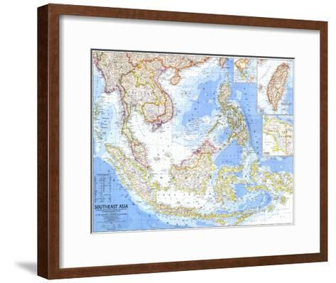 1968 Southeast Asia Map-National Geographic Maps-Framed Art Print