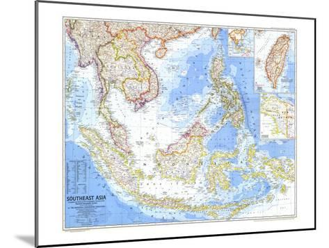 1968 Southeast Asia Map-National Geographic Maps-Mounted Art Print