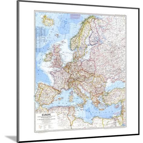 1969 Europe Map-National Geographic Maps-Mounted Art Print