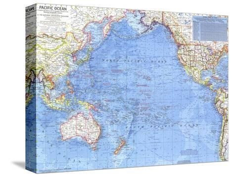 1969 Pacific Ocean Map-National Geographic Maps-Stretched Canvas Print