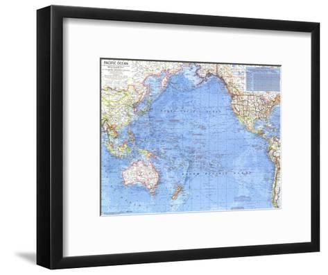 1969 Pacific Ocean Map-National Geographic Maps-Framed Art Print