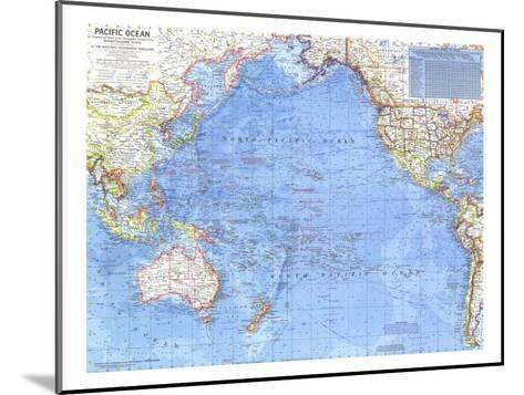 1969 Pacific Ocean Map-National Geographic Maps-Mounted Art Print