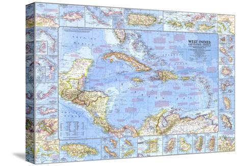 1970 West Indies and Central America Map-National Geographic Maps-Stretched Canvas Print