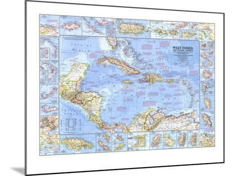 1970 West Indies and Central America Map-National Geographic Maps-Mounted Art Print