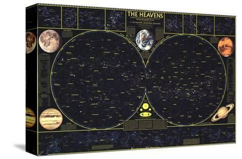 1970 Heavens-National Geographic Maps-Stretched Canvas Print
