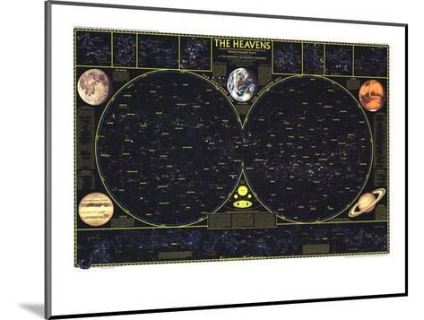 1970 Heavens-National Geographic Maps-Mounted Art Print
