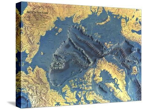 1971 Arctic Ocean Floor Map-National Geographic Maps-Stretched Canvas Print