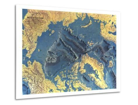 1971 Arctic Ocean Floor Map-National Geographic Maps-Metal Print