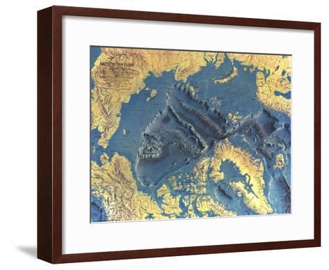 1971 Arctic Ocean Floor Map-National Geographic Maps-Framed Art Print