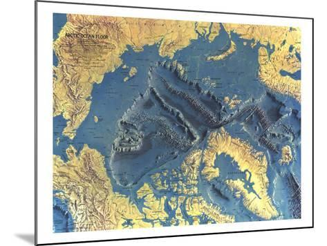 1971 Arctic Ocean Floor Map-National Geographic Maps-Mounted Art Print