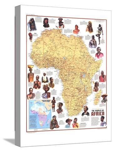1971 Peoples of Africa Map-National Geographic Maps-Stretched Canvas Print