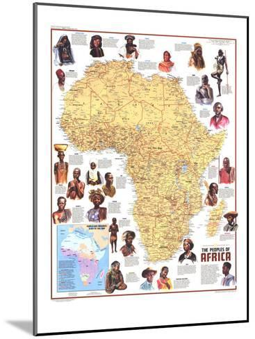 1971 Peoples of Africa Map-National Geographic Maps-Mounted Art Print