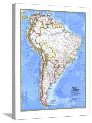 1972 South America Map-National Geographic Maps-Stretched Canvas Print