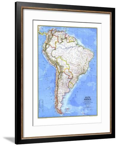 1972 South America Map-National Geographic Maps-Framed Art Print