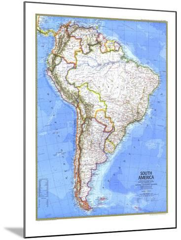 1972 South America Map-National Geographic Maps-Mounted Art Print