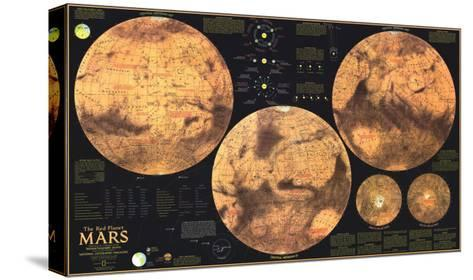 1973 Red Planet Mars Map-National Geographic Maps-Stretched Canvas Print