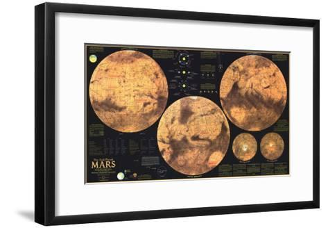 1973 Red Planet Mars Map-National Geographic Maps-Framed Art Print