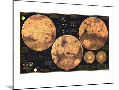 1973 Red Planet Mars Map-National Geographic Maps-Mounted Art Print
