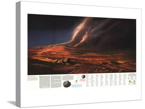 1973 Dusty Face of Mars-National Geographic Maps-Stretched Canvas Print