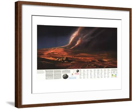 1973 Dusty Face of Mars-National Geographic Maps-Framed Art Print