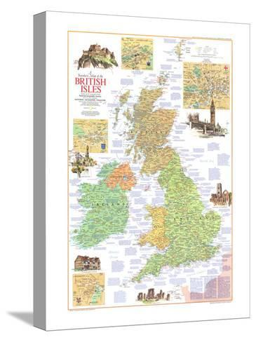 1974 Travelers Map of the British Isles-National Geographic Maps-Stretched Canvas Print
