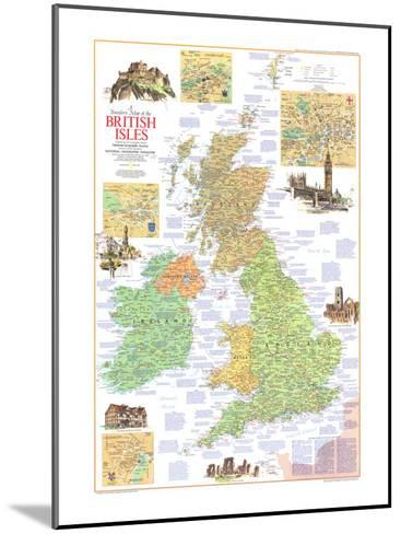1974 Travelers Map of the British Isles-National Geographic Maps-Mounted Art Print