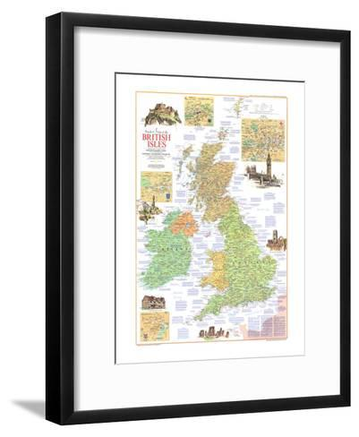 1974 Travelers Map of the British Isles-National Geographic Maps-Framed Art Print