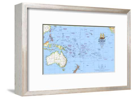 1974 Islands of the Pacific Map-National Geographic Maps-Framed Art Print