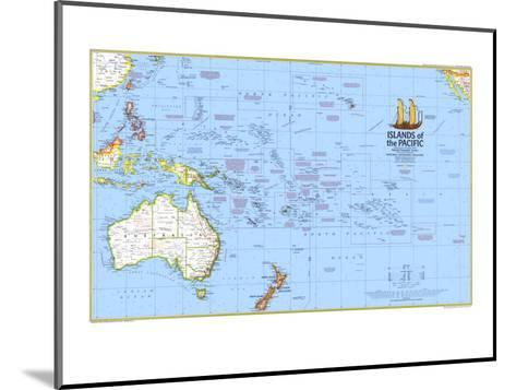 1974 Islands of the Pacific Map-National Geographic Maps-Mounted Art Print