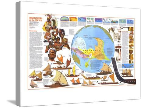 1974 Discoverers of the Pacific Map-National Geographic Maps-Stretched Canvas Print