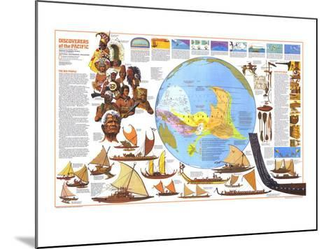 1974 Discoverers of the Pacific Map-National Geographic Maps-Mounted Art Print