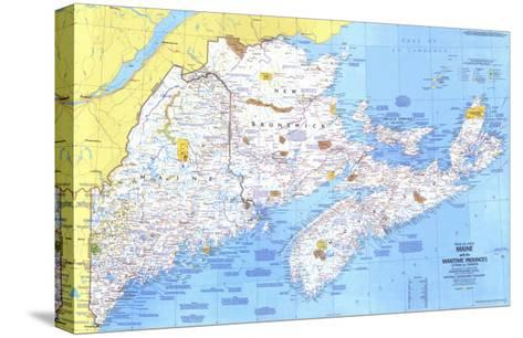 1975 Close-up USA, Maine Map-National Geographic Maps-Stretched Canvas Print