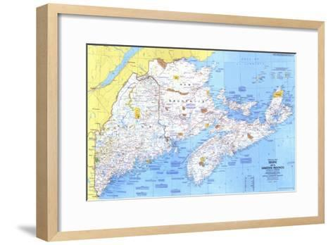 1975 Close-up USA, Maine Map-National Geographic Maps-Framed Art Print