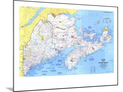 1975 Close-up USA, Maine Map-National Geographic Maps-Mounted Art Print