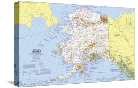 1975 Close-up USA, Alaska Map-National Geographic Maps-Stretched Canvas Print