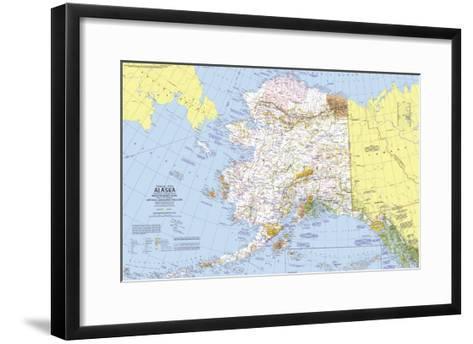 1975 Close-up USA, Alaska Map-National Geographic Maps-Framed Art Print