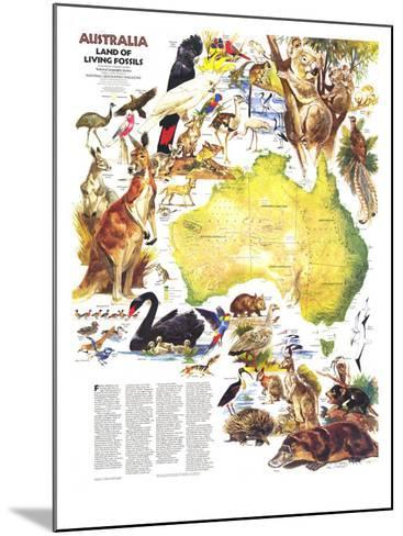 1979 Australia, Land of Living Fossils Map-National Geographic Maps-Mounted Art Print