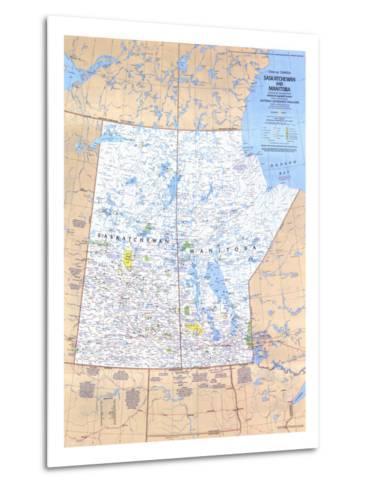1979 Saskatchewan and Manitoba Canada Map-National Geographic Maps-Metal Print