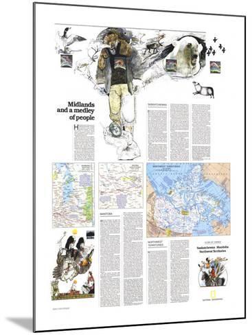 1979 Saskatchewan and Manitoba Map-National Geographic Maps-Mounted Art Print