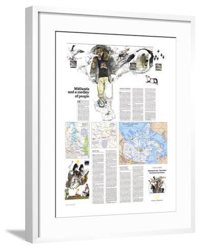 1979 Saskatchewan and Manitoba Map-National Geographic Maps-Framed Art Print
