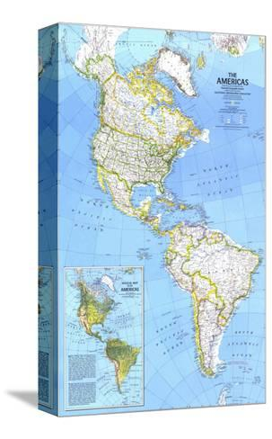 1979 The Americas Map-National Geographic Maps-Stretched Canvas Print